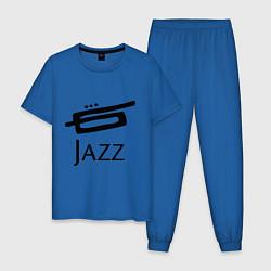 Пижама хлопковая мужская Jazz цвета синий — фото 1