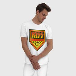 Пижама хлопковая мужская Kiss Army цвета белый — фото 2