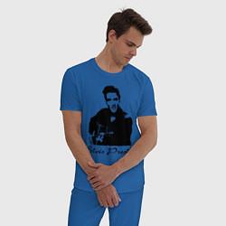 Пижама хлопковая мужская Elvis Presley цвета синий — фото 2