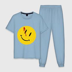 Пижама хлопковая мужская Cмайл с кровью цвета мягкое небо — фото 1