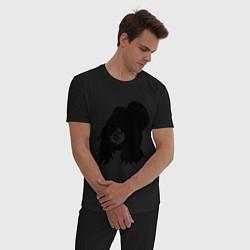 Пижама хлопковая мужская Guns n Roses - Slash цвета черный — фото 2