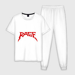 Пижама хлопковая мужская Rage цвета белый — фото 1