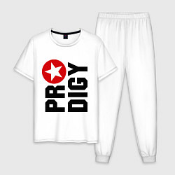 Пижама хлопковая мужская Prodigy Star цвета белый — фото 1