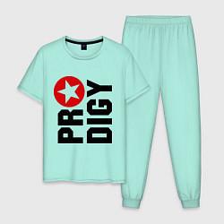 Пижама хлопковая мужская Prodigy Star цвета мятный — фото 1