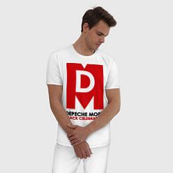 Пижама хлопковая мужская Depeche Mode: Black Celebration цвета белый — фото 2
