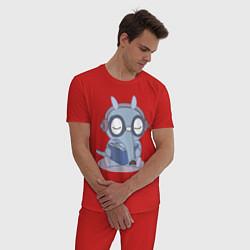Пижама хлопковая мужская HTF: Sniffles цвета красный — фото 2