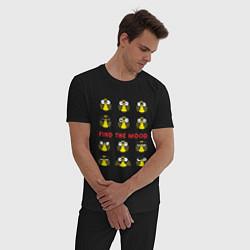 Пижама хлопковая мужская Find the Mood цвета черный — фото 2