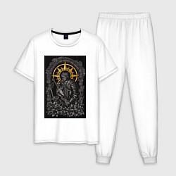 Пижама хлопковая мужская Dark Souls: Warrior цвета белый — фото 1