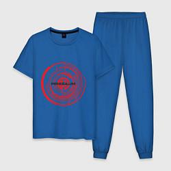 Пижама хлопковая мужская Pendulum цвета синий — фото 1