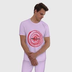 Пижама хлопковая мужская Pendulum цвета лаванда — фото 2
