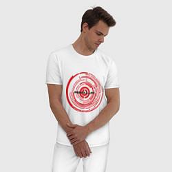 Пижама хлопковая мужская Pendulum цвета белый — фото 2