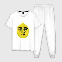 Пижама хлопковая мужская John Lemon цвета белый — фото 1