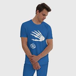 Пижама хлопковая мужская Кукрыниксы: Кости цвета синий — фото 2