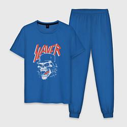 Пижама хлопковая мужская Slayer: Rage Soldier цвета синий — фото 1