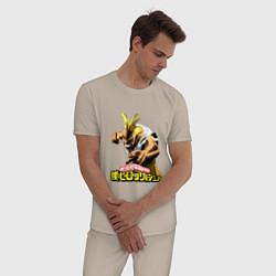 Пижама хлопковая мужская My Hero Academia цвета миндальный — фото 2