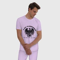 Пижама хлопковая мужская A day to remember цвета лаванда — фото 2
