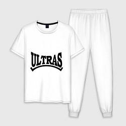 Пижама хлопковая мужская Ultras цвета белый — фото 1