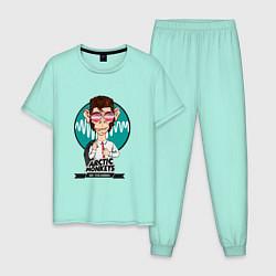 Пижама хлопковая мужская Arctic Monkeys: EN colombia цвета мятный — фото 1