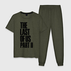 Пижама хлопковая мужская The Last of Us: Part II цвета меланж-хаки — фото 1