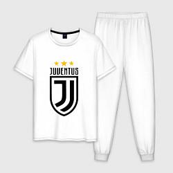 Пижама хлопковая мужская Juventus FC: 3 stars цвета белый — фото 1