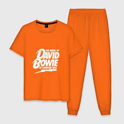 Пижама хлопковая мужская David Bowie: at carnegie hall цвета оранжевый — фото 1