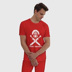 Пижама хлопковая мужская Iron Maiden цвета красный — фото 2