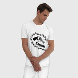 Пижама хлопковая мужская Clyde цвета белый — фото 2