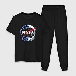 Пижама хлопковая мужская NASA цвета черный — фото 1