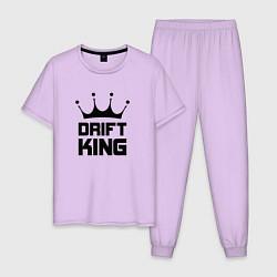 Пижама хлопковая мужская Drift King цвета лаванда — фото 1