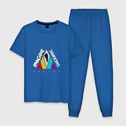 Пижама хлопковая мужская Imagine Dragons: Evolve цвета синий — фото 1