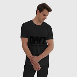 Пижама хлопковая мужская DayZ: Slay Survive цвета черный — фото 2
