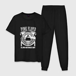 Пижама хлопковая мужская Pink Floyd цвета черный — фото 1