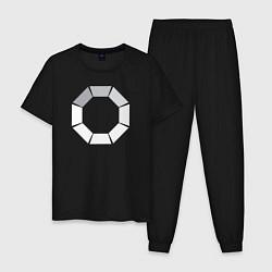 Пижама хлопковая мужская Loading цвета черный — фото 1