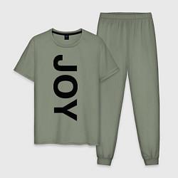 Пижама хлопковая мужская Joy BMW цвета авокадо — фото 1