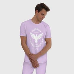 Пижама хлопковая мужская The Eagle: Khabib UFC цвета лаванда — фото 2