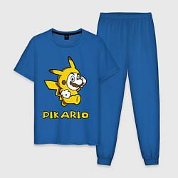 Пижама хлопковая мужская Pikario цвета синий — фото 1