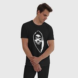 Пижама хлопковая мужская Тупак Шакур цвета черный — фото 2