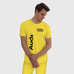 Пижама хлопковая мужская Audi Style цвета желтый — фото 2
