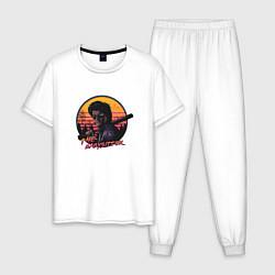 Пижама хлопковая мужская The BabySitter цвета белый — фото 1