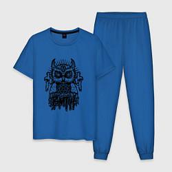 Пижама хлопковая мужская BMTH Owl цвета синий — фото 1