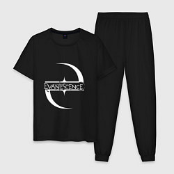 Пижама хлопковая мужская Evanescence цвета черный — фото 1