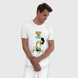 Пижама хлопковая мужская Sanjay and Craig цвета белый — фото 2