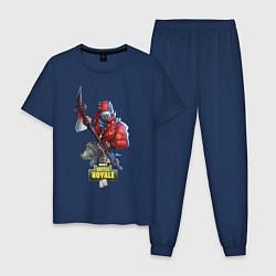 Пижама хлопковая мужская Fortnite Battle Royale цвета тёмно-синий — фото 1