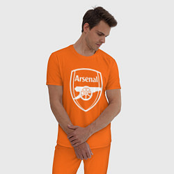 Пижама хлопковая мужская FC Arsenal цвета оранжевый — фото 2
