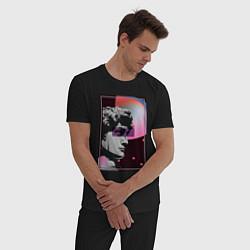 Пижама хлопковая мужская Vapor David цвета черный — фото 2