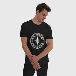 Пижама хлопковая мужская МЧС России цвета черный — фото 2