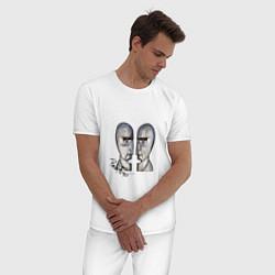 Пижама хлопковая мужская Pink Floyd цвета белый — фото 2