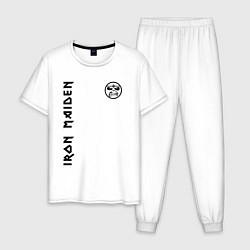 Пижама хлопковая мужская Iron Maiden Style цвета белый — фото 1