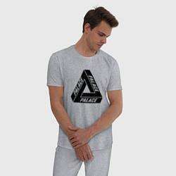 Пижама хлопковая мужская Palace Triangle цвета меланж — фото 2