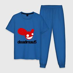 Пижама хлопковая мужская DeadMau5 цвета синий — фото 1